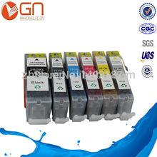 Free shipping 5PK PGI250 CLI251 Edible ink cartridge  for Canon pixma mg5420 mg6320 ip7220