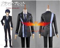 Anime Black Bullet Rentaro Satomi Cotton Uniform Cosplay Costume Custom Made Free Shipping