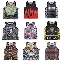 New 2015 summer tank tops 3D print skull Super breathable Mesh fabric vest fit slim jersey sleeveless tee shirts