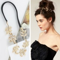 2015 New Arrival Womens Leaf Hair Clips Band Headbands Hairpin Delicate Jewelry Sets for girls Free Shipping Mixed Order Z&E2124