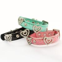 Armi store Love Rhinestone Pet Dog Collar 41019 Dog Princess Traction Collars