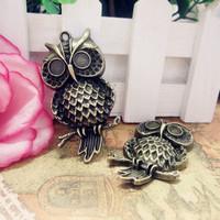 2015 Fashion Women Big Owl Charms Wholesale Jewelry Alloy DIY Charms 50pcs/bag