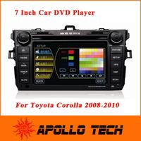 Professional DVD Caska Car DVD Player GPS Navigation Digital TV Rear camera DVR for Toyota Corolla 2008-2012 CA3633G DHL free