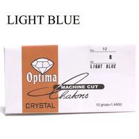 light blue color nail art diamond ss6 rhinestones 2mm diameter glass rhinestones in paper pack nail rhinestone
