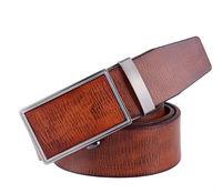 2014 hot sale width 3.7cm genuine leather men's automatic leather belt Wear resistant durable men leather strap125cm Belts
