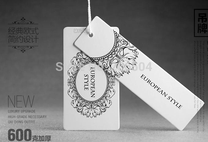 Free shipping customized/custom hang tags cloth printed hang tag hang tags labels for clothes/clothing personized dh11019(China (Mainland))