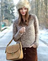 Faux Fur Hat Womens Ear Warm Winter Beret Cap Earflap Hat Balls Beanie 9 Color 0.5 MZ-0002