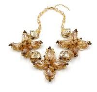 Transparent Resin Flower Necklace Design Necklace