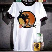 Hotsale Dota 2 Shadow Fiend T Shirts Men World Of Warcraft Blizzard Dota Illidan Tops Man Shirt Round Neck Cotton Size S-2XL