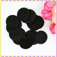 1'' Free shipping black felt circles patches hairbow decoration diy wholesale OEM 25mm P3450