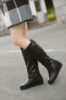 2014 autumn and winter women shoes winter boots girls comfortable leather boots with buckles waterproof