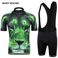 Brand Green Tiger Men Clothing Ropa Bicicletas Ciclismo Maillot Bicycle Sports Wear Mountain Bike Cycling Jersey Bib Shorts Set