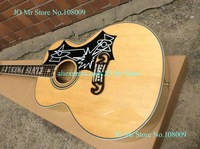 New J200 Acoustic Guitar Natural Maple Top AAA Solid spruce With ELVIS PRESLEY inlay on the fingerboard Back / Side Tiger