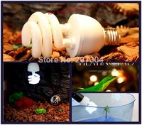1Pcs/lot Reptile Compact Fluorescent Vivarium Lamp Light 10.0 UVB UVA UV 26W E27 Screw Light P415