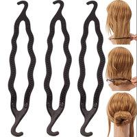 3Pcs/set Women Trendy Magic Bun Hair Twist Braid Tool Styling Ponytail Holder Clip Easy DIY Styling Tools