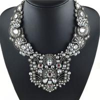 2014 Newest Women Necklaces & Pendants Sliver color High Quality Statement Necklace Wholesale Fashion Jewelry Choker Necklace