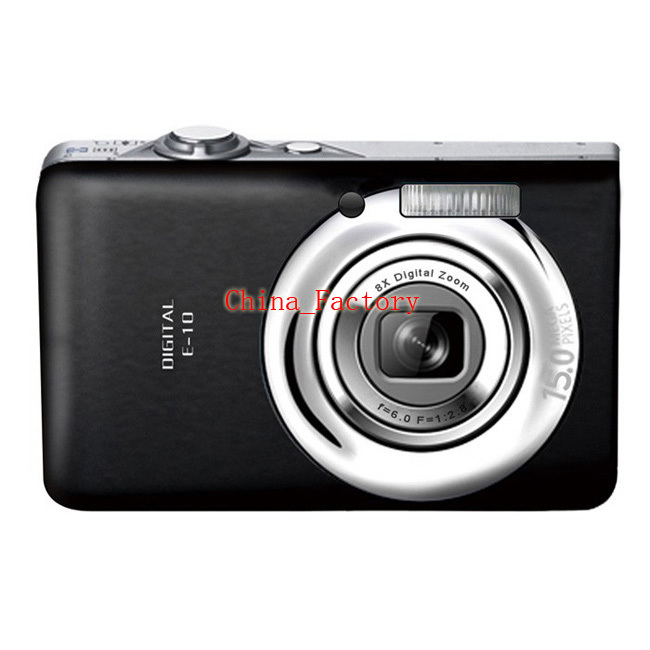 "Mini Digital Camera 12MP/2.4""color TFT LCD Digital camera with 8X digital zoom Compact camera Free Shipping(China (Mainland))"