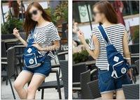 KAUKKO YP121 Women Men Unisex Multi-pockets Canvas Korean Style Casual Single Shoulder Bag Chest Sling Bag Fanny Pack