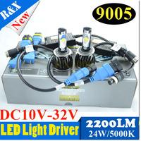 2014 New 1Set 48W CarLed CREE CXA 1512 4400LM  5000K   9005 HB3 9006 HB4 cree led xenon Headlight Kit DRL lamp bulb