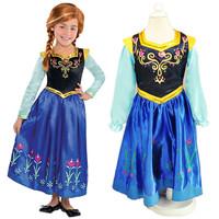 Free shipping! frozen dress 2014 Frozen Elsa Anna costume princess dress sequined cartoon costume Free shipping girls dresses.