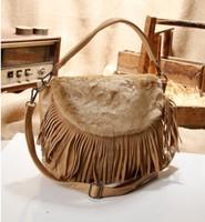 Limited New Arrival High quality Imitative Fur with Tassel Women's Handbag Messenger Bag, Women's Shoulder Bag, Tote Bag, F015
