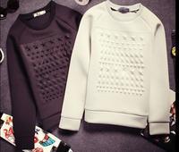 Runway hoodies men brand eorupe fashion Geometric stars pattern 3d sweatshirts crewneck men neoprene hoodie pullovers Nora60660