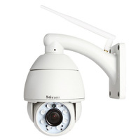 Sricam AP004 720P 5x Optical Zoom Pan Tilt H.264 ptz wifi ip network camera Outdoor CCTV Dome Camera