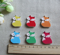 50PCS/LOT mix color,6 Color Fox stickers,Fridge sticker,Wall stickers,Garden ornament,Easter crafts.26x35mm