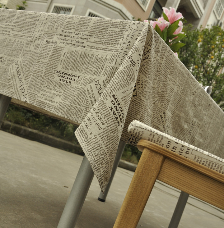 2014-new-toalha-de-mesa-mantel-english-newspaper-tablecloths-european