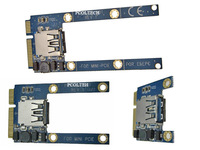 Free Tracked Shipping |Laptop Mini PCI-E mpcie interface to USB 2.0 Adapter Card