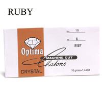 ruby color nail art diamond ss6 rhinestones 2mm diameter glass rhinestones in paper pack nail rhinestone