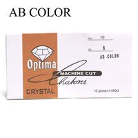 AB color nail art diamond ss6 rhinestones 2mm diameter glass rhinestones in paper pack nail rhinestone
