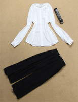 2014 new modle fashion free shipping best quality Pure white five pants suit