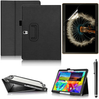 For Samsung Galaxy Tab S 10.5 inch T800 Leather case with stand card slot Handle smart cover + Screen protector + touch pen