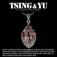 925 pure silver jewelry vintage garnet agate silver pendants pendant -