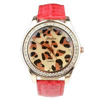 Hot sell Leopard grain woven new fashion design new arrive women luxury brand quartz wristwatch women dress watches