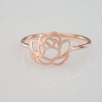 Free shipping 10pcs/lot Classic lotus flower ring, flower rings, simple blossom lotus flower shape tiny finger ring JZ-077