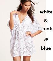 Hot Sale Women Dress Sexy V Neck swim Beach vestidos 3 Colors Lace Dresses