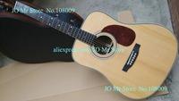 New Acoustic Guitar Natural Top AAA Solid Spruce Ebony Fingerboard Ebony Bridge High quality