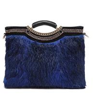 Fashion rabbit fur bags 2014 fur bag one shoulder cross-body women's handbag bridal bag