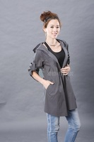 New 2014 trench coat for women thin overcoat manteau femme abrigos mujer casual dress desigual women 100% cotton