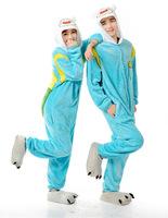 Adventure Time Finn Cartoon Cosplay Costume Onesies Men Women Adult Onesie Pajamas Soft Fleece Pyjamas Jumpsuit Romper Sleepwear