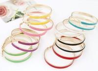 2015 European and American Girls metal elegant simplicity big Hoop circle earrings ear Jewelry Women Free shipping Z&E2155