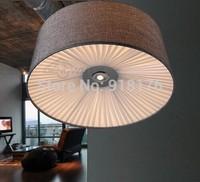 Free shipping modern Scandinavian retro, living room, bedroom, study, hallway, entrance, restaurant, bar, fabric ceiling lamp