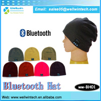 2014 Unisex Bluetooth headset hat Winter Beanie Hat bluetooth bonnet free shipping