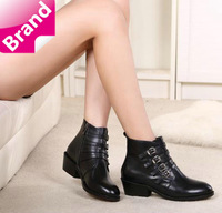 2014  fashion spring autumn boots female genuine leather women ankle-boots women riding boots free shipping