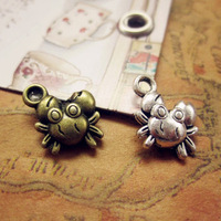 Wholesale Women Small Crab Charms Fashion DIY Jewelry Alloy Charms 50pcs/bag