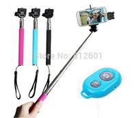 wireless bluetooth shooting control for cellphone, tablet,bluetooth self-timer shutter+handheld monopod+cellphone holder bracket