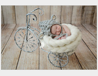 Cute New Style Baby Animal Design Crochet Beanie Cap Newborn Handmade Knitted Hat Cartoon Mouse Photography Props