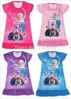 Retail summer Anna dress girl dress for Elsa & Anna children's wear kids clothes 319